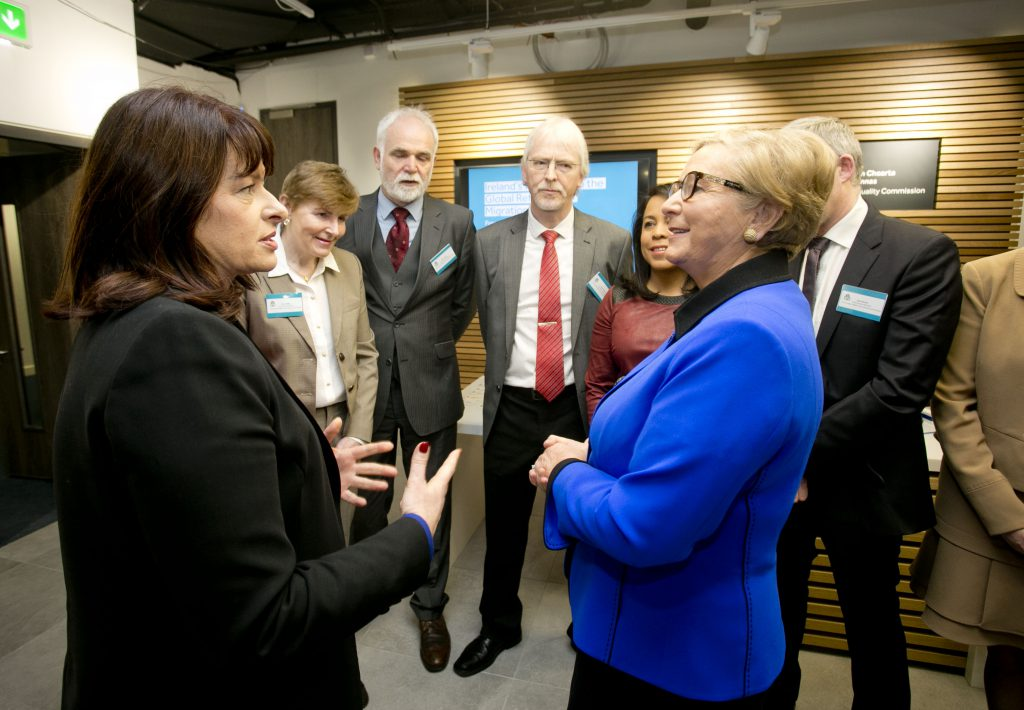 Tanaiste Frances Fitzgerald TD, Chief Commissioner Logan and Members of the IHREC