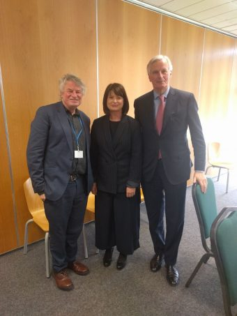 les-allenby-nihrc-emily-logan-ihrec-and-michel-barnier-eu-commission-at-joint-committee-meeting-april-2018