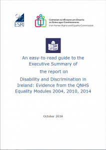 Disability and Discrimination in Ireland - ETR summary cover image