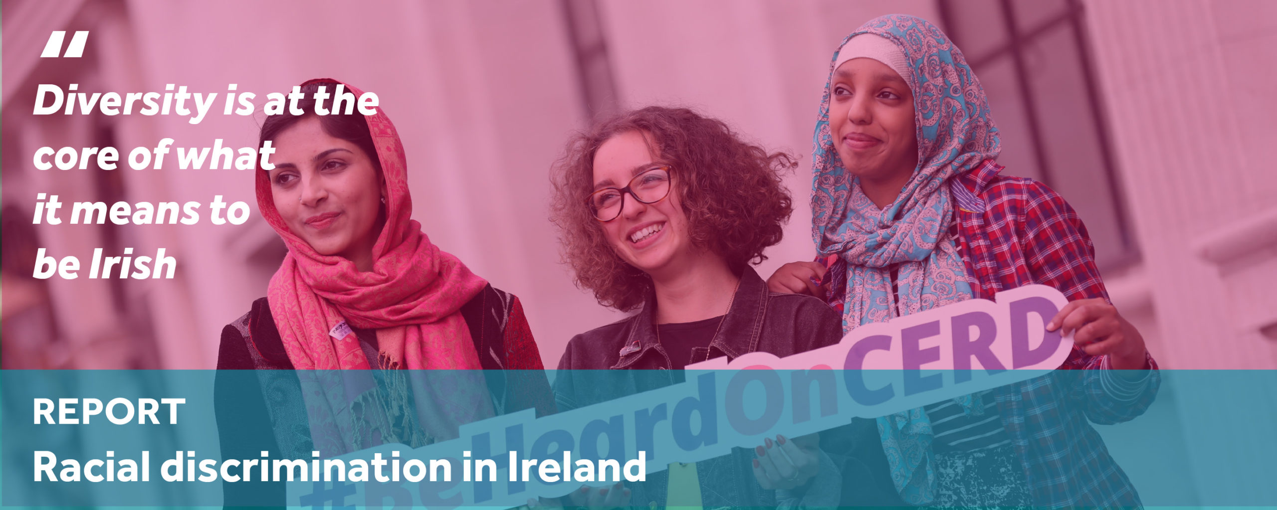 Because We're All Human. Means we're all equal. View our report on racial discrimination in Ireland here.