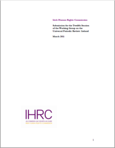 Submission to the First Universal Periodic Review, 2011 cover