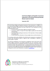 Submission to the Second Universal Periodic Review, 2015 cover